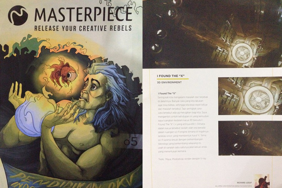 Featured on Masterpiece magazine #5