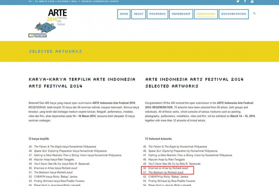 Featured on Indonesia Art Festival Exhibition